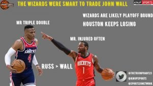 THE WIZARDS WERE SMART TO TRADE JOHN WALL